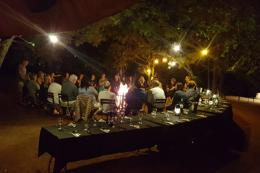 conference Braai at night